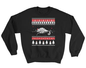 Cute Chameleon Ugly Christmas Sweater Funny Pet Gift
