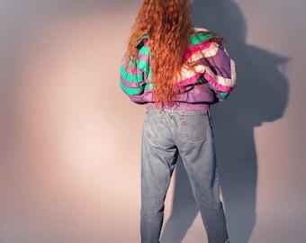 Vintage 90s Neon Windbreaker