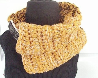 Crochet pattern, scarf, num 98. 2 tone scarf, cowl, neckwarmer.  crochet for beginners, instant download