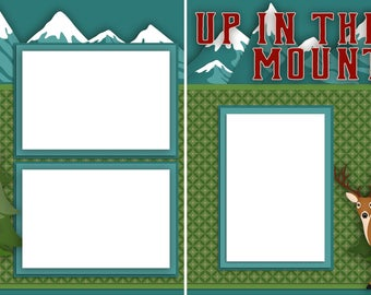 Up in the Mountains - Digital Scrapbooking Quick Pages - INSTANT DOWNLOAD
