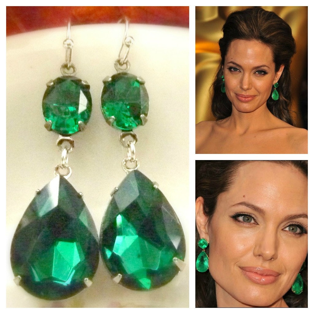 claire earrings drop teardrop s emerald