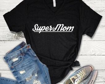 Supermom Shirt, Supermom Tee Shirt, Supermom V-Neck