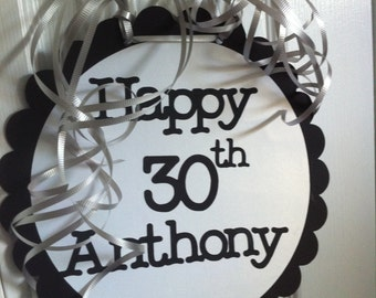 30th Birthday Personalized Party Signs