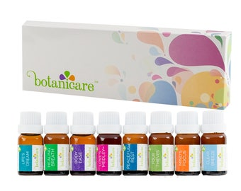 Aromatherapy Essential Oil Blends Gift Set Includes 8 100% Pure Therapeutic Grade 10ml/.33oz bottles