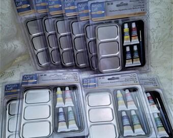 Watercolor Paint Tin 6 Pc Set, Artists Loft, Party Favors, Stocking Stuffers, Paint Sets, Set of 10 Packages