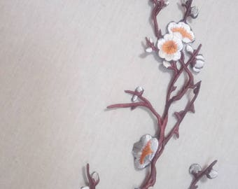1 patch fusible cherry flowers