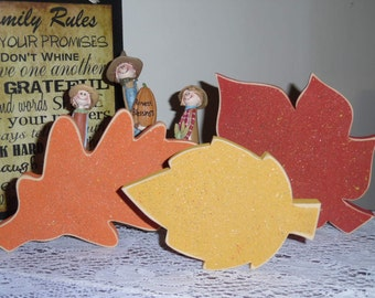 Wooden Fall Leaves- 3 Pieces