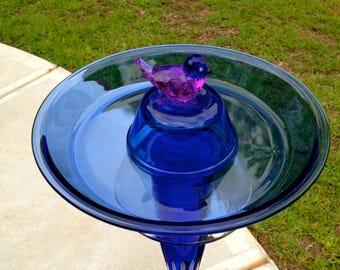 Blue Waters Birdbath - Bird Feeder - Yard Art - One of a Kind