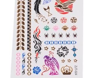 2pc mix pattern print temporary tattoo sticker-10579x2