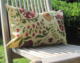 outdoor pillows, outdoor lumbars, outdoor pillow cover, flower pillow, patio pillow, chair pillow, floral pillow, pillow cover, lumbar cover