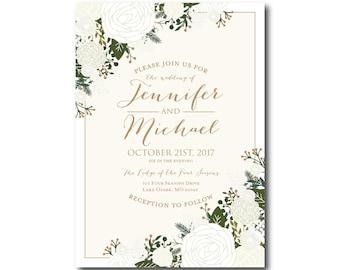 PRINTABLE Wedding Invitation Wedding Invitation Printable Invitation Wedding Invite DIY Wedding Template Wedding Printable #CL177