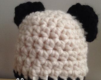 Newborn Crocheted Panda hat