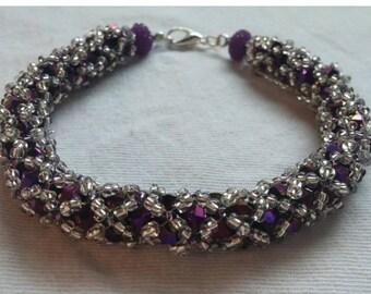 Purple netted bracelet