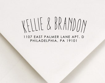 Return Address Stamp  Arc Style - Kellie and Brandon Design