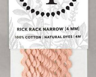 Naturally Dyed 4mm Rick Rack-Rose