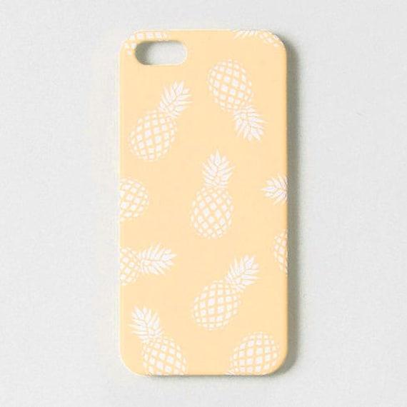 FUNDA PIÑAS amarilla • funda iPhone 8, carcasa iPhone 7, funda iPhone 6, carcasa iPhone 6S, funda 5S case, funda iPhone SE, funda tropical