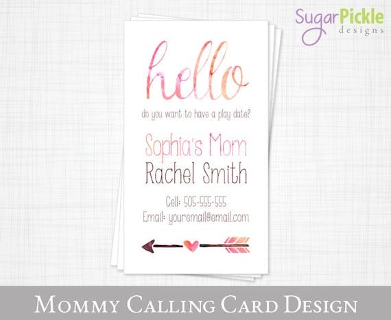 Mommy business card play date card mom of card mommy colourmoves