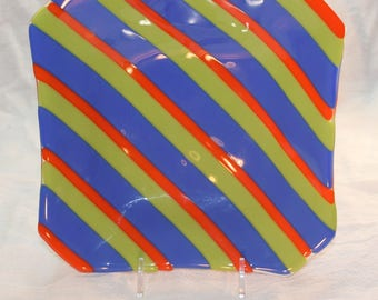Striped Shallow Bowl