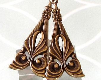 Art-Deco-Tamar Drop, Antik Gold, 2 pc. AG232