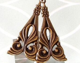 Art Deco Tamar Drop, Antique Gold, 2 pc. AG232