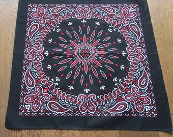 Bandana - unique screen-printed fabric originally hand-drawn