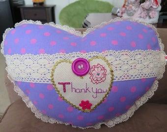Thank You Heart Pillow