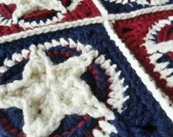 Patriotic Star Square Pattern