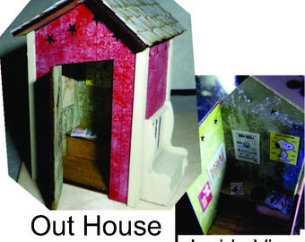 Out House Kit, with a Side Bench Quarter Scale or O Scale