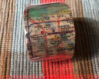 MTA New York subway map masking washi tape