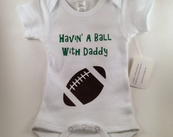 Football Baby - Football Baby Clothes - Football Baby Boy - Baby Boy Clothes - Custom Baby Clothes - Baby Football Jersey - Havin' a Ball