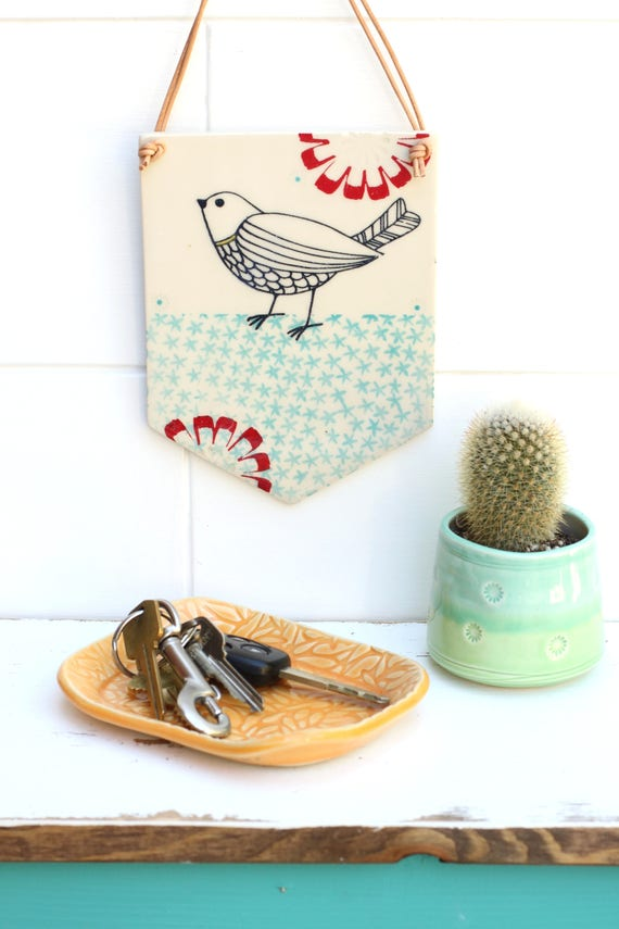 hanging wall tile // bird tile