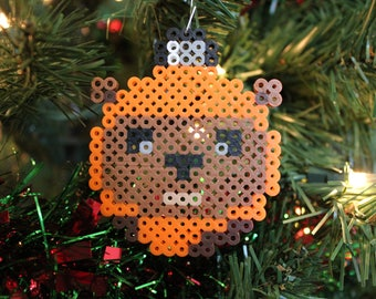 Star Wars Ewok Inspired Perler Ornament