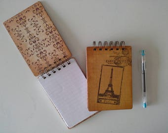 Vertical Eiffel Tower spiral notebook