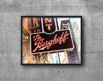 The Berghoff - Chicago Photography Print vintage sign photo - german restaurant - famous chicago