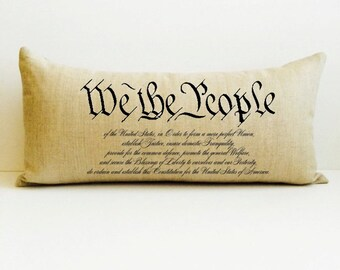 we the people, lawyer gift, graduation gift, constitution pillow, personalized pillow, gift, pillows with words, constitution, pillow, judge