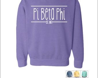 Pi Beta Phi // Pi Phi // Sorority Comfort Color (Skinny Latte)  Sweatshirt // Choose Your Color