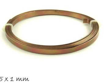 2 m aluminium wire, ALU wire Brown for stamping 5 x 1 mm