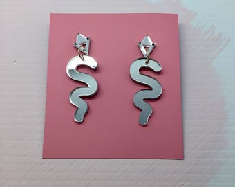 Squiggle Mirror Drops - Mirrored Collection