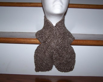 Knitted Lotus Leaf Scarf Stays Put-Amazing Look to keep you Warm in terrific colors-Brown Blend