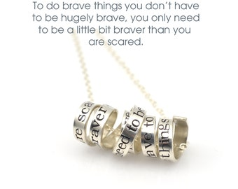 Quote Necklace | Personalized Jewelry | Favorite Saying | Literary Jewelry | Book Necklace | Holiday Gift | Bookworm Gift | Stamped Quote