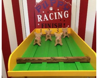 Puppy Race game, Pig Race Game, Lawn Game, Carnival Game, Backyard Game, Corporate Games, Bacon Run Game, Birthday Party Games