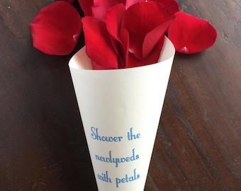 Flower cones etsy wedding rose petal cones flower cones confetti cone paper wedding cones petal mightylinksfo