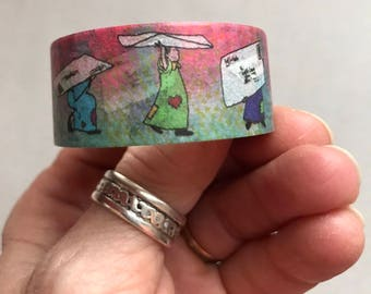 Washi Tape 20 mm Original Little Ladies MailArt Envelope Carriers Snail Mail Tape