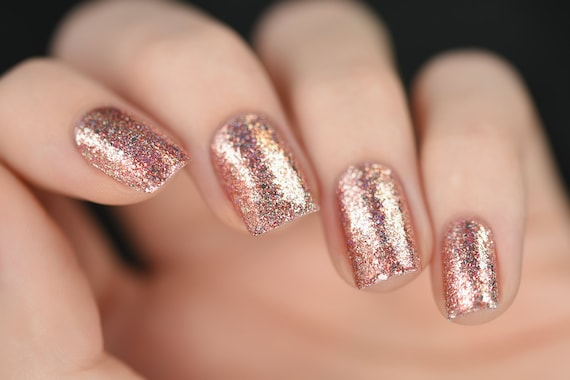 Juliette Rose Gold Holographic Nail Polish