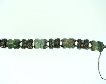 William Spratling Turquoise Frog Bracelet