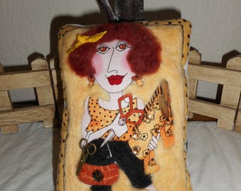 Needle Felted Pin Cushion Pillow