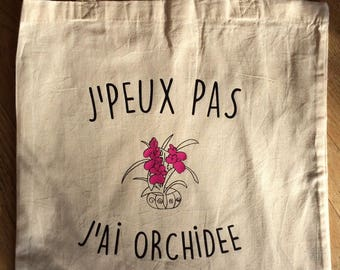 Tote bag shopping bag cotton Orchid