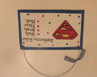 Superman Bathroom Wall Hanging