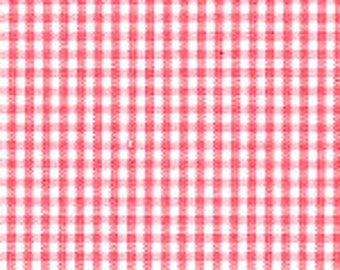 "HALF YARD 1/16"" CORAL Fabric Finders Gingham"