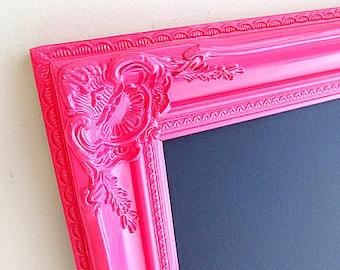 GIRLS ROOM DECOR Pink Chalkboard Hot Pink Wall Decor Teenage Girl Gift Birthday Party Decoration Desk Organizer Kids Room Decor Fuchsia Pink